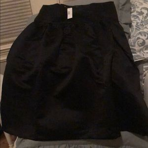 Black satin J Crew skirt size 14